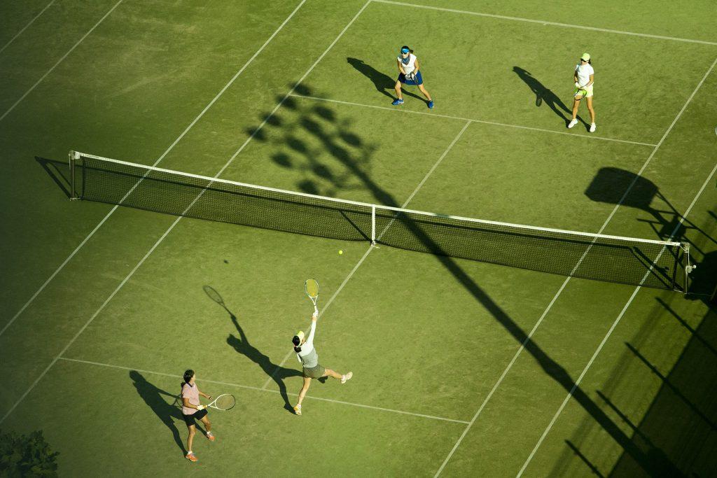 テニス ダブルス 画像